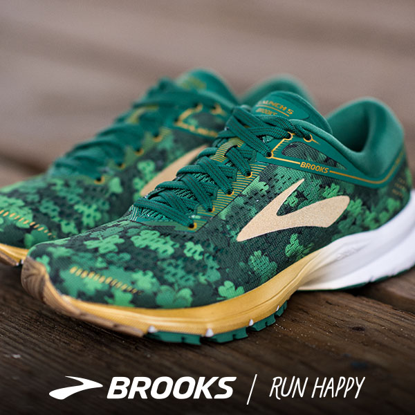 brooks launch - shamrocks